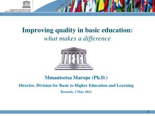 Improving quality in basic education:  what makes a difference