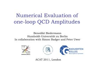Numerical Evaluation of  one-loop QCD Amplitudes