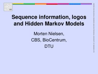 Sequence information, logos and Hidden Markov Models