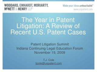 The Year in Patent Litigation: A Review of Recent U.S. Patent Cases