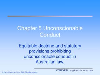 Chapter 5 Unconscionable Conduct