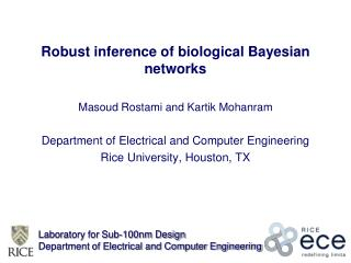 Robust inference of biological Bayesian networks
