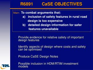 R6891       CaSE OBJECTIVES