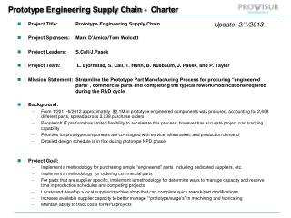 Prototype Engineering Supply Chain -  Charter