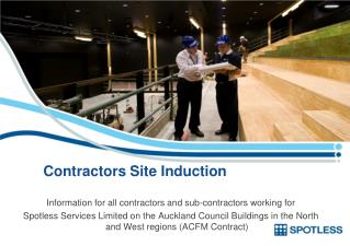 Contractors Site Induction
