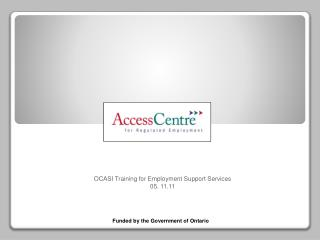 OCASI Training for Employment Support Services     05. 11.11