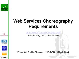 Web Services Choreography Requirements