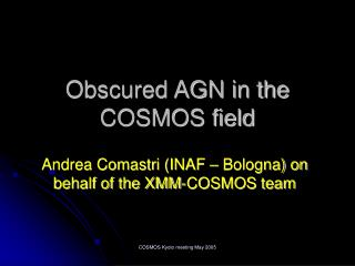 Obscured AGN in the COSMOS field