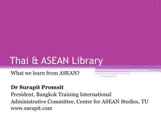 Thai & ASEAN Library