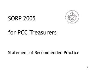 SORP 2005 for PCC Treasurers Statement of Recommended Practice
