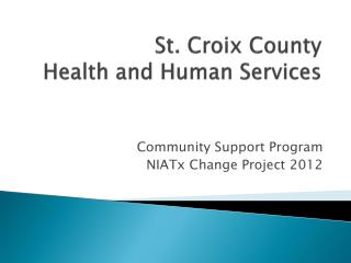 St. Croix County  Health and Human Services
