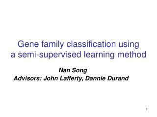 Gene family classification using  a semi-supervised learning method
