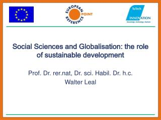 Social Sciences and Globalisation: the role of sustainable development