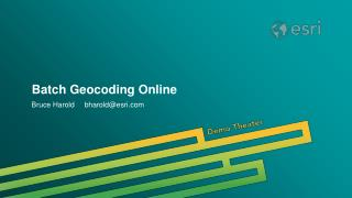 Batch Geocoding Online