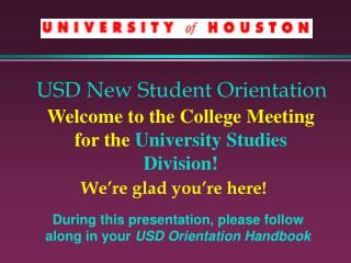 USD New Student Orientation