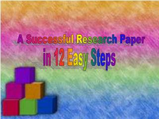 A Successful Research Paper