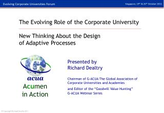 The Evolving Role of the Corporate University