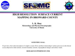 HIGH RESOLUTION  SURFACE CURRENT  MAPPING IN BROWARD COUNTY