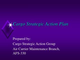 Cargo Strategic Action Plan