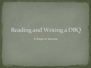 Reading and Writing a DBQ