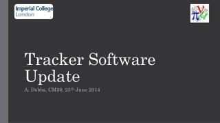 Tracker Software Update