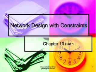 Network Design with Constraints