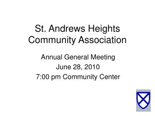 St. Andrews Heights Community Association