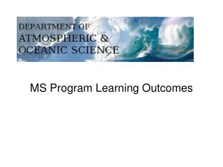 MS Program Learning Outcomes
