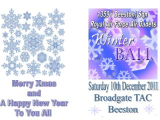 Saturday 10th December 2011