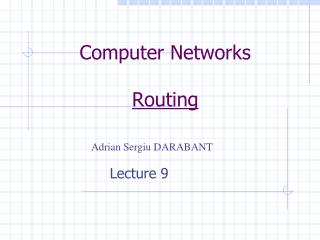 Computer Networks Routing