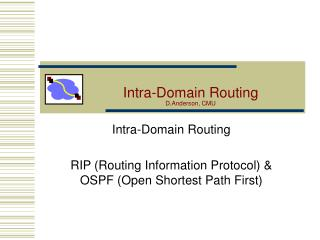 Intra-Domain Routing D.Anderson, CMU