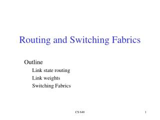 Routing and Switching Fabrics