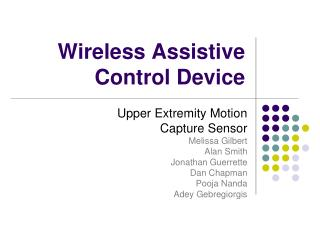 Wireless Assistive Control Device