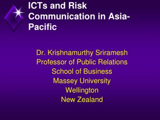 ICTs and Risk Communication in Asia-Pacific