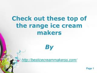 Best Ice Cream Makers