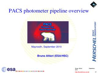PACS photometer pipeline overview