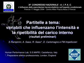 Human Performance Lab, S.S.MAPEI, Castellanza, Italy