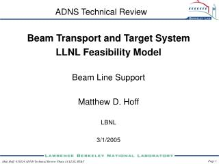 ADNS Technical Review