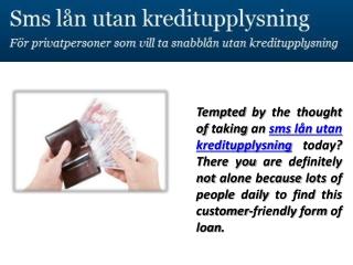 sms lån utan kreditupplysning