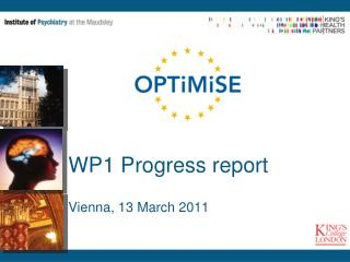 WP1 Progress report Vienna, 13 March 2011