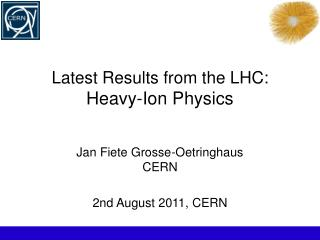 Latest Results from the LHC:  Heavy-Ion Physics