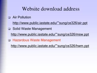 Website download address