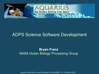 ADPS Science Software Development
