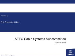 AEEC Cabin Systems Subcommittee