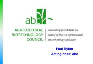 Paul Rylott Acting-chair, abc