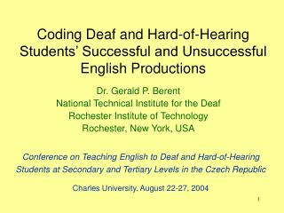 Coding Deaf and Hard-of-Hearing Students' Successful and Unsuccessful English Productions
