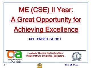 CSA ME II Year