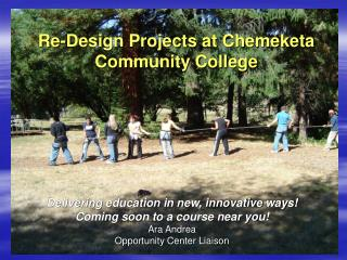 Re-Design Projects at Chemeketa Community College