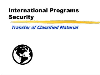 International Programs Security