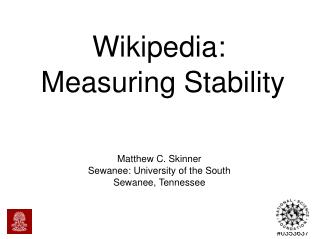 Wikipedia:  Measuring Stability